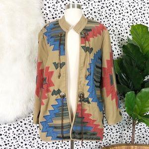 Vintage | Embroidered Western Concho Jacket Coat